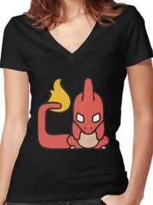 C for C-harmeleon Women's Fitted V-Neck T-Shirt
