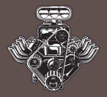 Cartoon Turbo Engine One Piece - Short Sleeve