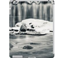 Spring shower (black and white) iPad Case/Skin