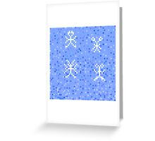 drawing in the style of pixel art,vector illustration Greeting Card