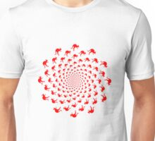 Crazy red mob of kangaroos - optical illusion Unisex T-Shirt