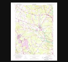USGS TOPO Map New Jersey NJ Farmingdale 254366 1954 24000 Unisex T-Shirt