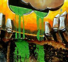 Graffiti wall art. Sticker