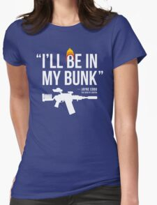 In My Bunk (white letters) Womens Fitted T-Shirt
