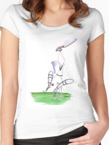 England Cricket nutmeg - tony fernandes Women's Fitted Scoop T-Shirt