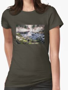Riverside (mood cottage on the river) Womens Fitted T-Shirt