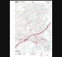 USGS TOPO Map New Jersey NJ Perth Amboy 20110426 TM Unisex T-Shirt