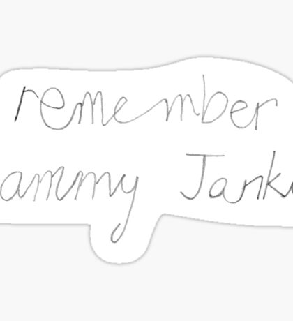 Remember Sammy Jankis - Memento film Sticker