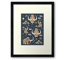 Cute mammoths Framed Print
