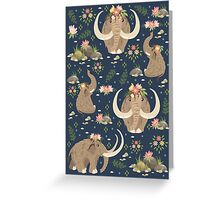 Cute mammoths Greeting Card