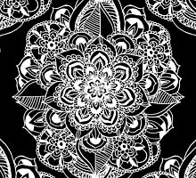 Black & White Art Deco Mandala by Tangerine-Tane