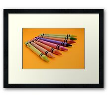 Multi-coloured Wax Crayons Framed Print