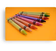 Multi-coloured Wax Crayons Canvas Print