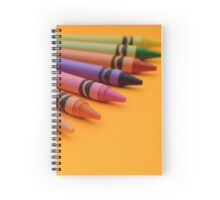 Multi-coloured Wax Crayons Spiral Notebook