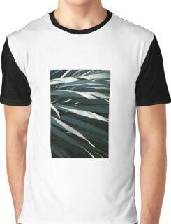Grunge Leaf Graphic T-Shirt
