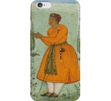 A standing portrait of a courtier, probably Raja Man Singh of Amber, attributable to Bishandas, Mughal, circa iPhone Case/Skin