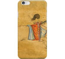 A tethered stallion, attributable to Govardhan, Mughal, circa  iPhone Case/Skin