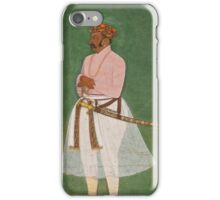 A standing portrait of a nobleman, possibly Asaf Khan, attributable to Bishandas or Nanha, Mughal, circ iPhone Case/Skin