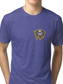 Moto Jolly Roger Badge Tri-blend T-Shirt