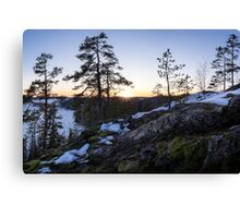 Spring evening on the hill Canvas Print