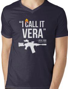 Jayne + Vera (white letters) Mens V-Neck T-Shirt