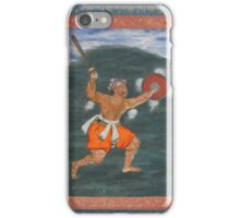 A warrior brandishing a sword, attributable to Dasavanta, Mughal, circa iPhone Case/Skin