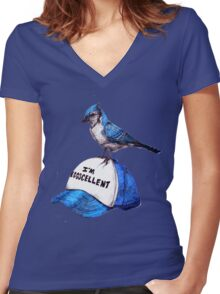 It's anything but Women's Fitted V-Neck T-Shirt