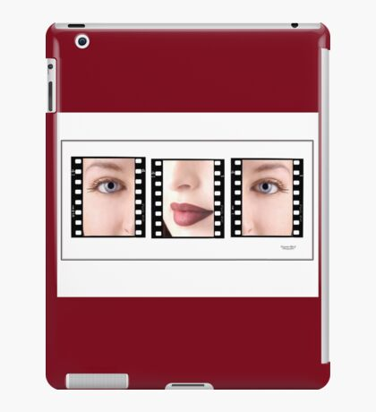 Young girls face in triptych iPad Case/Skin