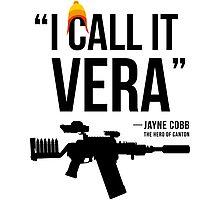 Jayne + Vera (black letters) Photographic Print