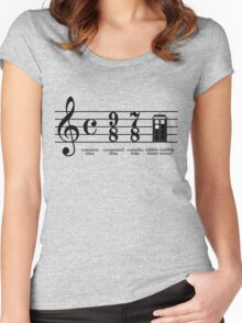 Wibbly-wobbly timey-wimey Women's Fitted Scoop T-Shirt