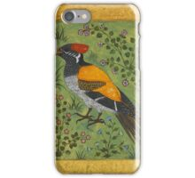 A yellow-backed woodpecker, attributed to Mansur, Mughal, circa iPhone Case/Skin