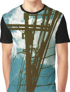 Clouds and Transformer Graphic T-Shirt