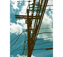 Clouds and Transformer Photographic Print