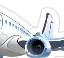 Cartoon Airliner Boeing 737 Sticker