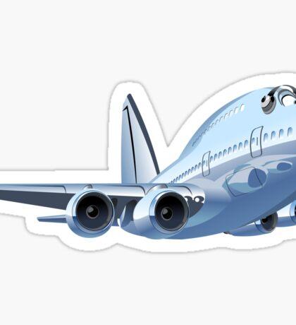 Cartoon Airliner Sticker