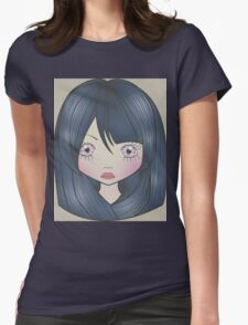 Dollhouse Girl Blue Womens Fitted T-Shirt