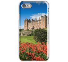 Drumlanrig Castle and Montbretia Photograph Dumfries and Galloway iPhone Case/Skin