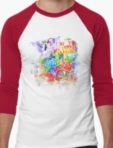 Trippy, psychedelic, arty Men's Baseball ¾ T-Shirt