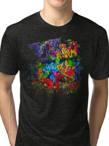 Trippy, psychedelic, arty Tri-blend T-Shirt