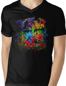Trippy, psychedelic, arty Mens V-Neck T-Shirt