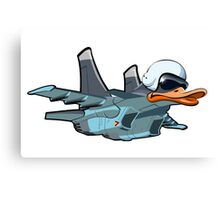 Cartoon Jetbird Canvas Print