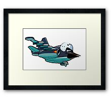 Cartoon Jetbird Framed Print