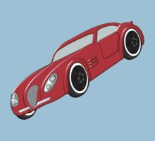A Butch Red Muscle Car Baby Tee