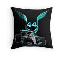 Lewis Hamilton F1 with LH 2016 44 car Throw Pillow