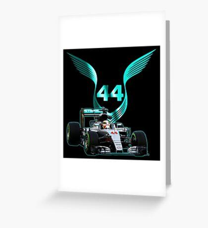 Lewis Hamilton F1 with LH 2016 44 car Greeting Card