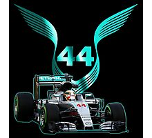Lewis Hamilton F1 with LH 2016 44 car Photographic Print