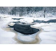 Cold river Photographic Print