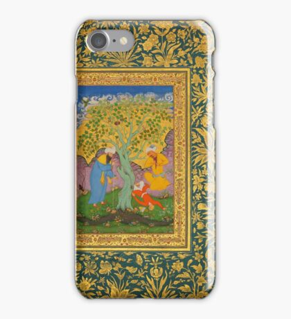 A Youth Fallen From a Tree, Folio from the Shah Jahan Album iPhone Case/Skin