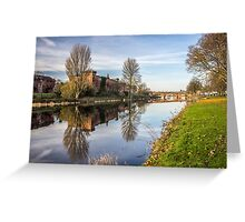 Dumfries Dock Park River Nith Photograph Galloway Greeting Card