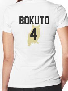 Haikyuu!! Jersey Bokuto Number 4 (Fukurodani) Women's Fitted V-Neck T-Shirt